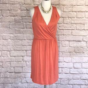 LOFT coral knit dress, size MP, NWT
